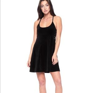 Juicy Couture Pitch Black Velour Dress XL NWT